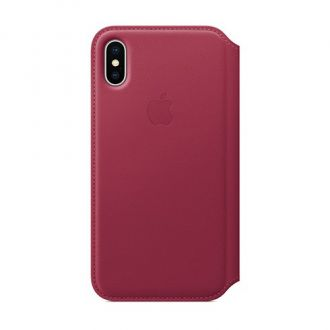 Apple iPhone X/Xs Leather Folio - Berry
