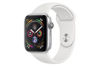 Watch series 4 GPS 44 mm Silver Aluminum Case with White Sport Band