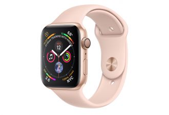 Watch series 4 GPS 44 mm Gold Aluminum Case with Pink Sand Sport Band