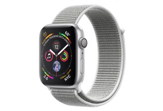 Watch series 4 GPS 44 mm Silver Aluminum Case with Seashell Sport Loop