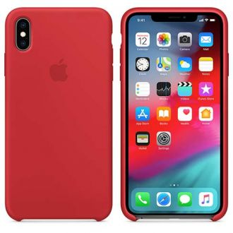 Apple iPhone XS Max Silicone Case - (PRODUCT)RED