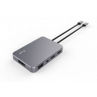 LMP USB-C PRO Display Dock 4K 10-port - Space Gray Aluminium