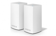 Linksys Velop Whole Home Intelligent Mesh WiFi System, Dual-Band, 2-pack (AC2600)