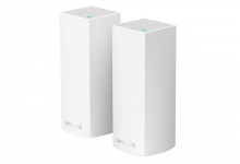 Linksys Velop Whole Home Intelligent Mesh WiFi System, Tri-Band, 2-pack (AC4400)