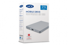 LaCie Mobile Drive 2TB, USB-C, Space Gray