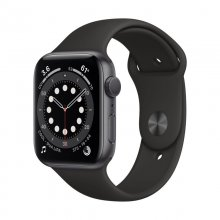 Watch Series 6 GPS, 40mm Space Gray Aluminium Case with Black Sport Band