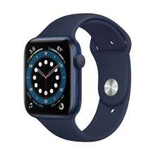 Watch Series 6 GPS, 44mm Blue Aluminium Case with Deep Navy Sport Band