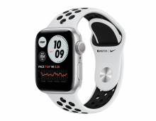 Watch Nike Series 6 GPS, 40mm Silver Aluminium Case with Pure Platinum/Black Nike Sport Band
