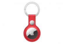 Apple AirTag Leather Key Ring - (PRODUCT) RED